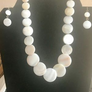 Jewelry - Mother of Pearl Coin Style Statement Choker Set
